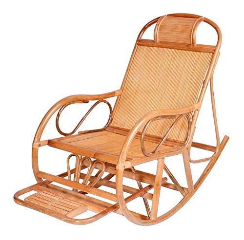 YYDD Mecedora Silla cómoda con la meditación del Masaje del pie y la Almohadilla Que se relaja reclinable Silla de Sala de Estar, Patio y terraza