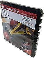 Soft Fitness Mat 7501042099852 Piso para Gimnasio, Negro/Gris