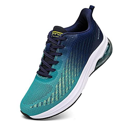 Frysen Zapatillas de Running Hombre Mujer Deportivas Zapatos Hombre para Tenis Correr Gimnasio Deportivas Casual 43EU BlueWhite