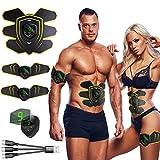 Nitoer Electroestimulador Muscular Abdominales,Masajeador Eléctrico Cinturón con USB, Estimulación Muscular Masajeador Eléctrico Cinturón Abdomen/Brazo/Piernas/Glúteos