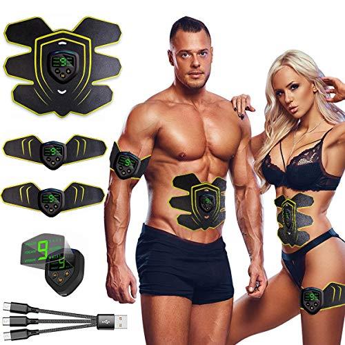 Nitoer Elettrostimolatore per Addominali, Elettrostimolatore Muscolare, EMS Stimolatore Muscolare, ABS Trainer/Toner per Addome/Braccio/Vita/Gambe Home Gym