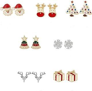 Alliage Cuivre Noël Père Noël Boîte Cadeau Collier Broche Broche avec