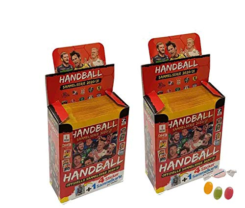 Blue Ocean Victus Handball Sticker 2020/2021 - 2 x Displays / je 36 Stickertüten 20/21 zusätzlich 1 x Sticker-und-co Fruchtmix Bonbon