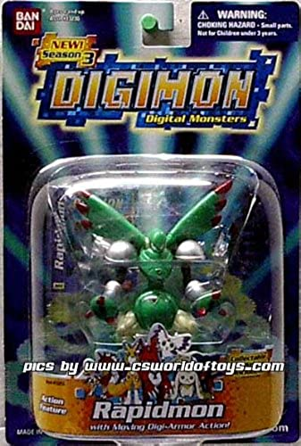 Digimon - Serie 3 - Action Feature Rapidmon - Incl. Sticker - Figur ca. 6-8 cm - OVP