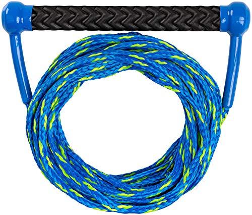 MESLE Wakeboard & Wasserski Leine Combo, schwimmfähig, Eva Soft Griff, Länge 18,3 m, schwimmend, Zug-Seil Wassersport Schleppleine, schwarz-weiß, blau-Lime, Farbe:blau