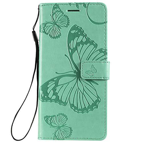 Jeewi Hülle für Xiaomi Redmi 7 Hülle Handyhülle [Standfunktion] [Kartenfach] [Magnetverschluss] Tasche Etui Schutzhülle lederhülle klapphülle für Xiaomi Redmi 7 - JEKT042558 Grün