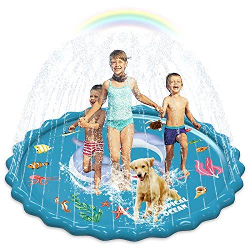 Abida Splash Pad, 67' Outside Sprinkler Play Mat for Kids, Extra Large Party...
