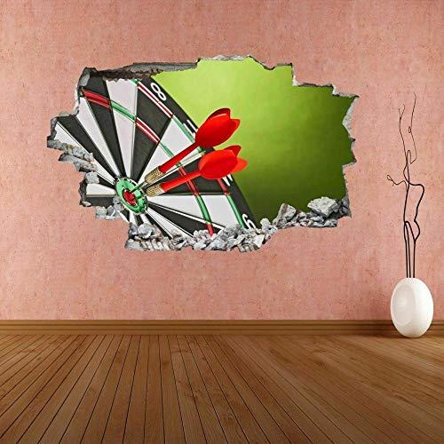 3D-Effekt Wandtattoo Aufkleber Durchbruch selbstklebendes Wandbild Wandsticker Stein Wanddurchbruch Wandaufkleber Tattoo,Dartscheibe 60x90cm