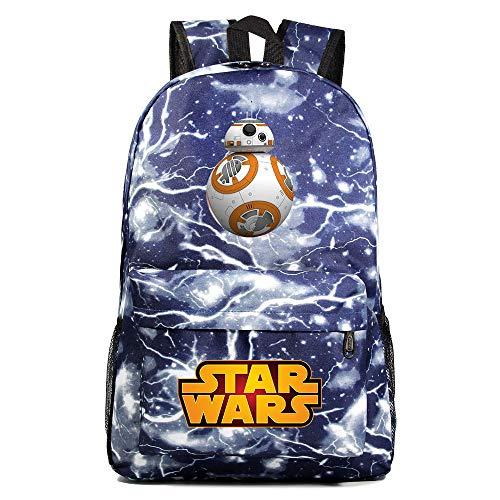 Mochila Star BB-8 Wars, Mochila Casual para Adolescentes, Mochila Grande Ligera Escuela, Mochila de Senderismo de Viaje Medio color-12