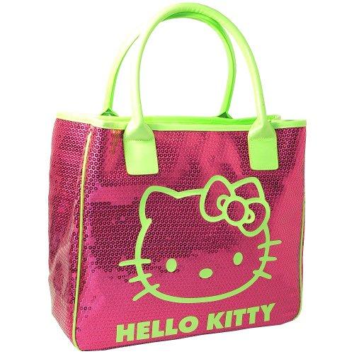 Hello Kitty Grand sac à main sequins rose Camomilla