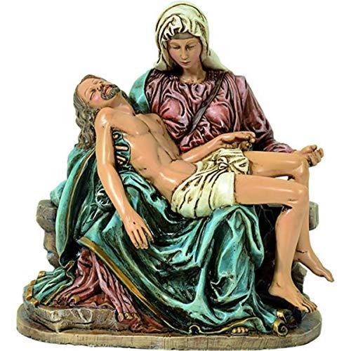 YTC Colorierte christliche Figur Pieta 19x16cm nach Michelangelo