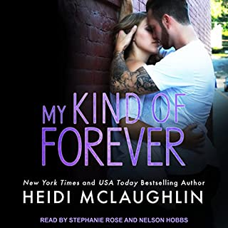 My Kind of Forever     Beaumont Series, Book 5              Written by:                                                                                                                                 Heidi McLaughlin                               Narrated by:                                                                                                                                 Nelson Hobbs,                                                                                        Stephanie Rose                      Length: 8 hrs and 7 mins     1 rating     Overall 4.0