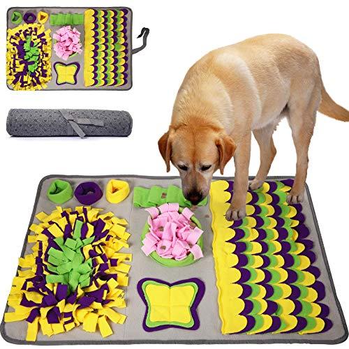 McNory Snuffle Mat para Perros, Alfombra de Actividades para Mascotas, Alfombra Olfato Perro Mascotas Perros tapete de Entrenamiento Rompecabezas Juguetes de alimentación Bowl(70 * 50 cm)