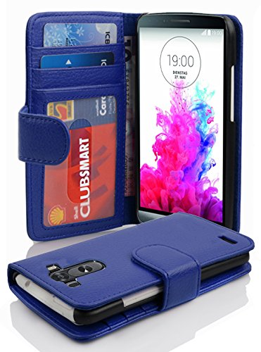 Cadorabo Funda Libro para LG G3 en Azul Real - Cubierta Proteccíon con Cierre Magnético e 3 Tarjeteros - Etui Case Cover Carcasa