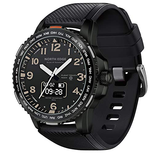 HBRT Reloj Inteligente Masculino, Digital Deportes Impermeable Reloj con Pantalla táctil Brújula Termómetro Altímetro estepa