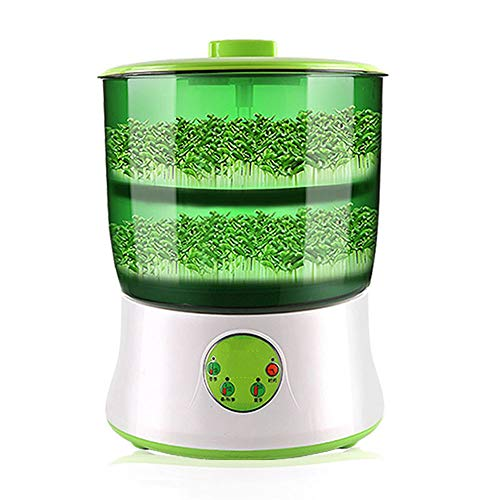TRACONN Bean Sprouts Machine 110V 2 Layers Thermostat Electric Germinator Automatic Watering