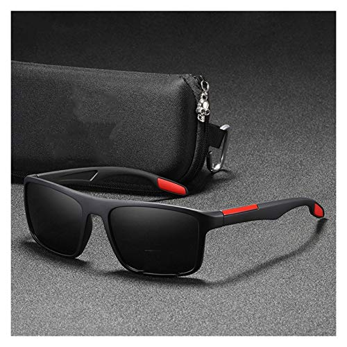JCNVT Diseño Moderno Rectangular Ultra Light Sunglasses Hombres polarizados 1.1mm Espesor Lente de la Lente Conjuntos de Sol Gafas de Sol Deportes para Conducir Viajes
