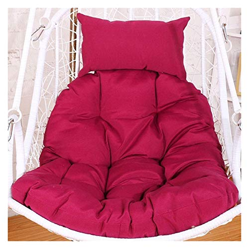 BDBT Swing Chair Cushion Rattan Swing Hanging Chair Cushion Pad, Egg Hammock Chair Pads for Indoor Outdoor Garden Patio (Color : Dark Red)