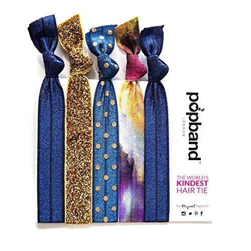 Popband Poussière d'Étoile - Paquet de 5 Élastiques à Cheveux Popbands