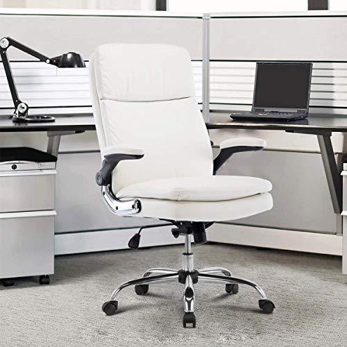 Myka's Ergonomic White Office Chair
