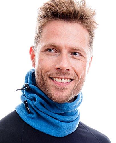 Hilltop Polar Multifunktionstuch/Motorradmaske/Skimaske/Kälteschutz/Gesichtsmaske/Halswärmer/Polar Halstuch mit Kordelzug 100% Fleece, Design/Farbe:marina