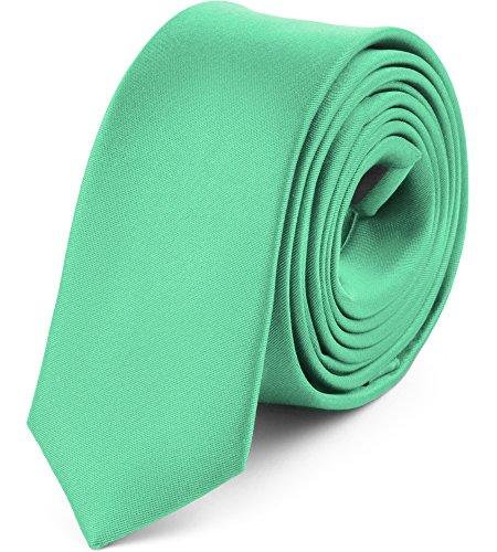 Ladeheid Corbatas Estrechas Diversidad de Colores Accesorios Ropa Hombre SP-5 (150cm x 5cm, Menta)