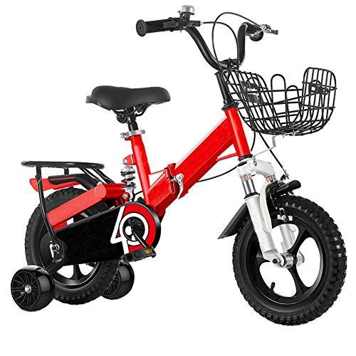 Fahrrad Falten Fahrrad, Kind Licht Tragbar Berg Fahrrad Stoßdämpfend, Jungen Und Mädchen Klein Mini Fahrrad Integriert Rad Erweiterung Blitz Hilfs Rad,16 inch