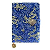 Mily Exquisite Notebook Chinese Yun Brocade Notebook Silk Hardcover Diary Journal Sketchbook Travel And Thought Blank Book-Gold Dragon