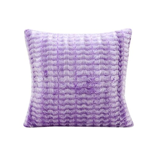 Gemini _ Mall doux en peluche Couvre-lit Taie d'oreiller Housse de coussin pour canapé Home Decor, violet, Taille unique