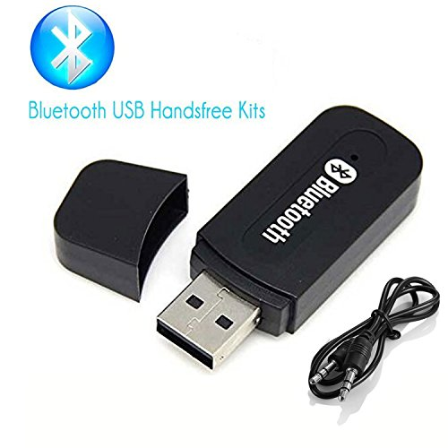 Wireless Adapter Receiver, Annbully Car Kit Mini USB Wireless Audio Adapter Music Receiver & Adapter Home/Car Phone iPhone Stereo Speakers Headphones Car (AUX in) Music Sound System