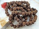 SiddhratanTM Rudraksha Jap Mala oración Rosario Collar de 108 Cuentas