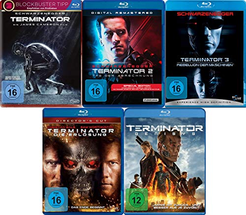 Blu-ray Set * Terminator Teil 1+2+3+4+5 (Genisys)