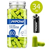 Mpow HP055A 055A, 34dB SNR Soft Foam, 60 Pairs EarPlugs with Aluminum Carry
