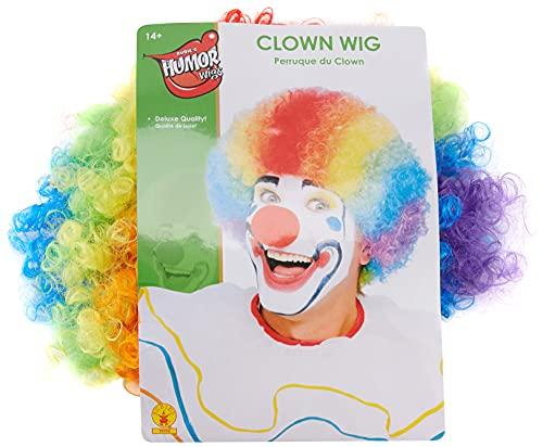 Rubie's 50764NS Perruque de clown officielle pour adulte, multicolore, taille unique