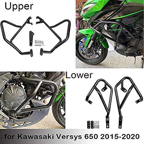 Lorababer für Kawasaki Versys 650 2015 2016 2017 2018 2019 2020 2021 Motorrad Motorschutzbügel Stoßstangen Sturzbügel Rahmenschutz für 650 Versys (1 voller Satz)