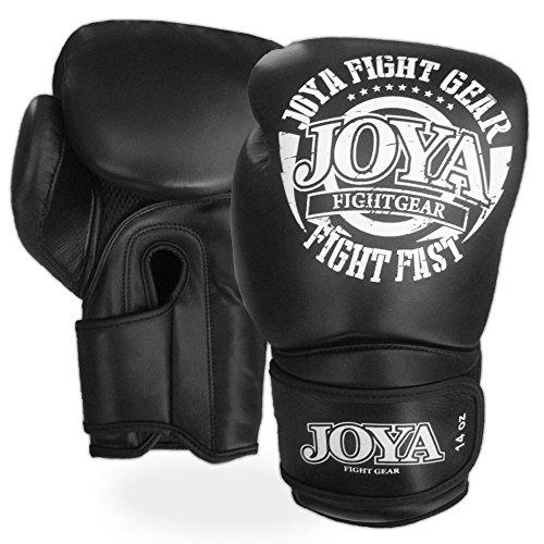 JOYA FF0091 - Guanti da Kickboxing, in Pelle, Colore: Nero, 10 oz