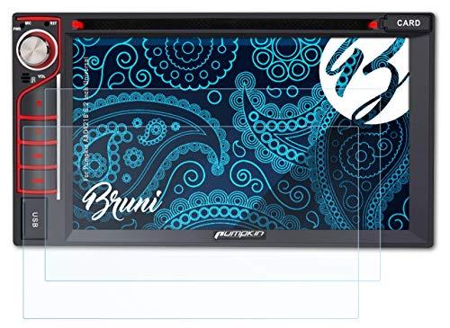 Bruni Película Protectora Compatible con Pumpkin AA0421B 6.2 Inch Universal Protector Película, Claro Lámina Protectora (2X)