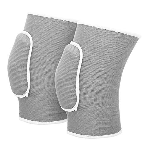 Protector de Rodilla, Manga de Rodilla para aliviar el Dolor de Rodilla con diseño de cojín para arrodillarse para Deportes para Mujeres(Gris)