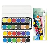 PHOENIX Watercolor Paint Set of 24 Colors with Plastic Palette & Paint Brush Watercolor Pan Set for Kids, Students, Beginners & Artists