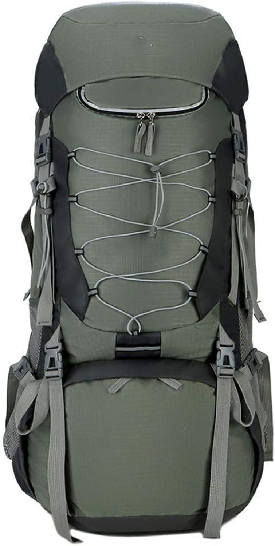 High-Capacity 75L Backpack Travel Trekking Hiking Camping Climbing Mountaineering Rucksack for Men Women Large Capacity Waterproof Ergonomic Multifunctional (color   Green)