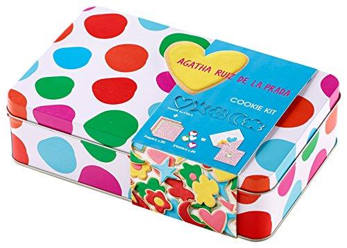 Lékué 4608000SURM017 Kit Cookies à Pois Acier Inoxydable, Multicolore, 21,5 x 13,5 x 6 cm