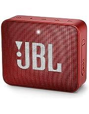 JBL GO2 JBLGO2ROSSO Draagbare waterdichte luidspreker met draadloze Bluetooth-connectiviteit, handsfree en geïntegreerde oplaadbare batterijen