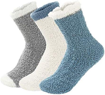 Century Star Women s Warm Super Soft Slipper Socks Fuzzy Fluffy Cozy 3 8 Pairs Home Socks 01 product image