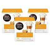Nescafe Dolce Gusto Coffee Pods, Latte Macchiato, 16 capsules, Pack of 3