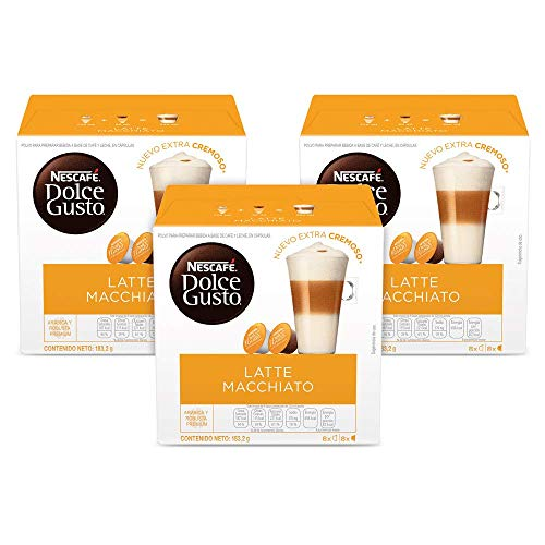 Nescafe‰ Dolce Gusto Coffee Capsules, Latte Macchiato 48 Single Serve Pods, (Makes 24 Specialty Cups) 48 Count