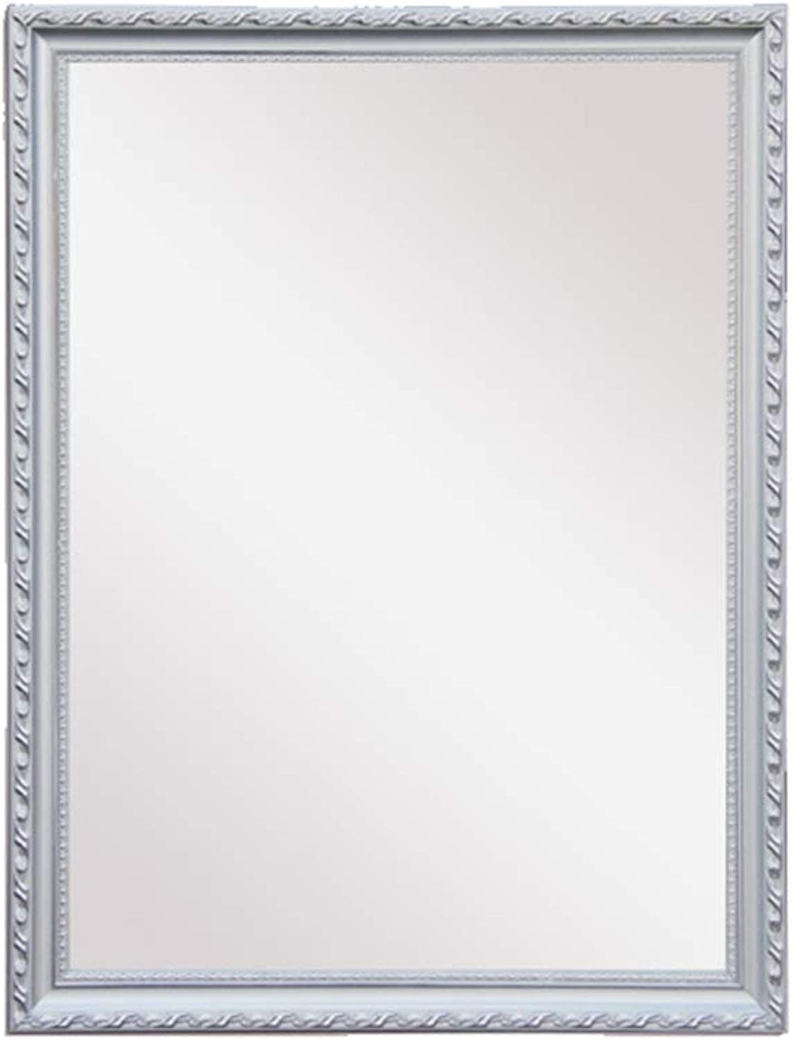 Mirror Rectangular Wooden Frame Wall Hanging Bathroom Mirror Makeup Mirror 19  27 inches (50  70cm)