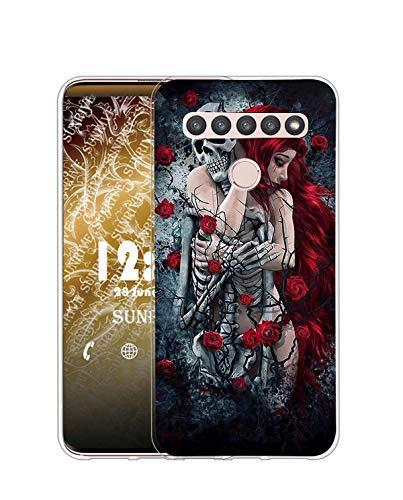 Sunrive Kompatibel mit LG K51S Hülle Silikon, Transparent Handyhülle Schutzhülle Etui Hülle (Q Mädchen)+Gratis Universal Eingabestift MEHRWEG