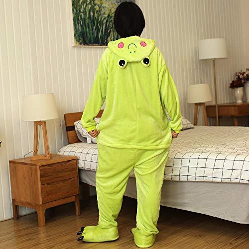 QIROG Winter Animals Sleepwear Panda Onesies Women Men Unisex Adults Flannel Nightgown Home Clothing Sets-Minion_S (Height 148-158CM)