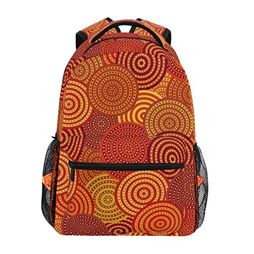 Chinease Rucksack, traditionell, rund, geometrisch, für Studenten, Schule, Reisen, Wandern, Camping, Laptop, Tagesrucksack