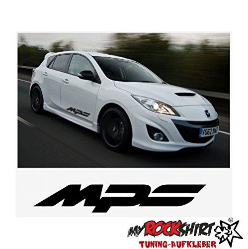 MPS Mazda 2x 50cm Aufkleber Tuning Scheibe Lack TYP-MRS96 `+ Bonus Testaufkleber